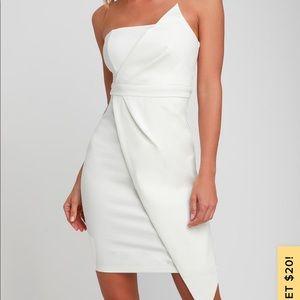 Lulu's White Strapless Bodycon Dress - XS
